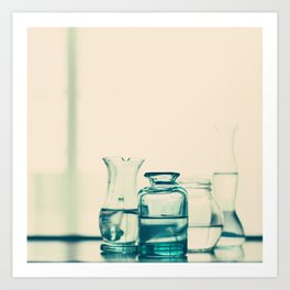 Crystal jars and bottles (Retro and Vintage Still Life Photography) Art Print