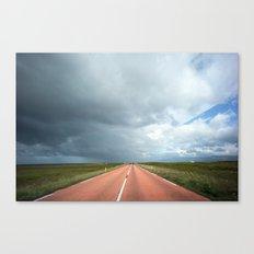 red roads ahead Canvas Print