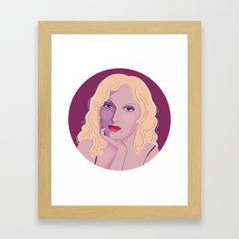 Queer Portrait - Candy Darling Framed Art Print