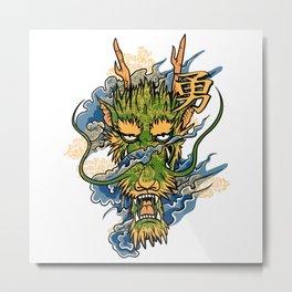 Green Dragon Metal Print