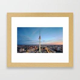 Berlin TV Tower Framed Art Print