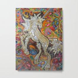 Magical Unicorn Metal Print