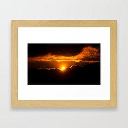 Sun divided Framed Art Print