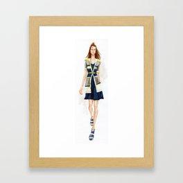 Runway Walk! Framed Art Print