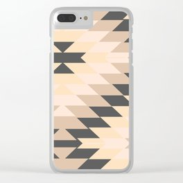 San Pedro in Grey and Tan Clear iPhone Case