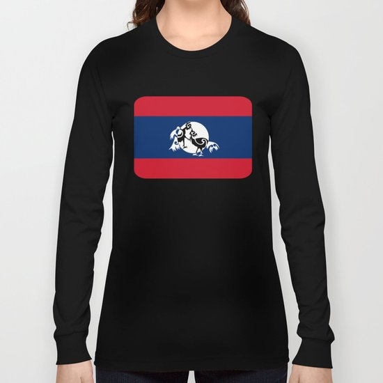 Laos, Roosters Sparring Long Sleeve T-shirt