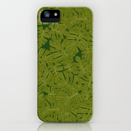 monstera leaves iPhone Case