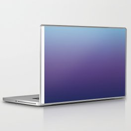 Ombre Blue Ultra Violet Gradient Pattern Laptop & iPad Skin
