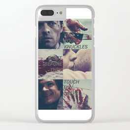 sastiel serial killers aesthetic Clear iPhone Case