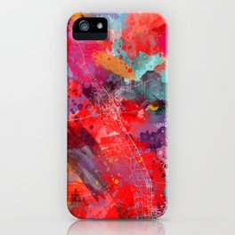 Las Cruces map New Mexico 2 iPhone Case