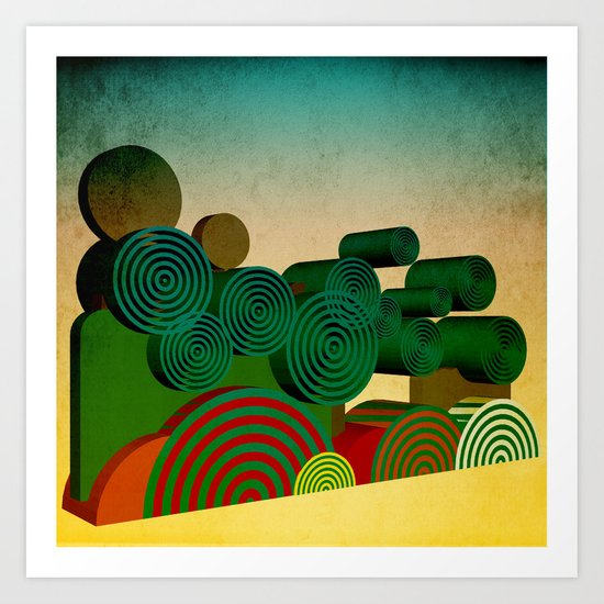 Fairground Attraction Art Print
