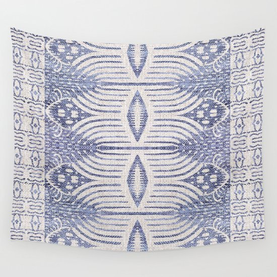 FRENCH LINEN TRIBAL IKAT by hollizollinger