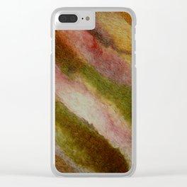 Warm earthy woolen fall Clear iPhone Case