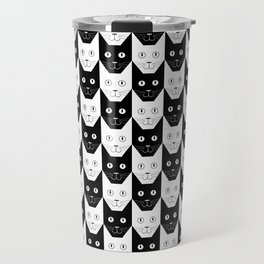 Black cat, white cat Travel Mug