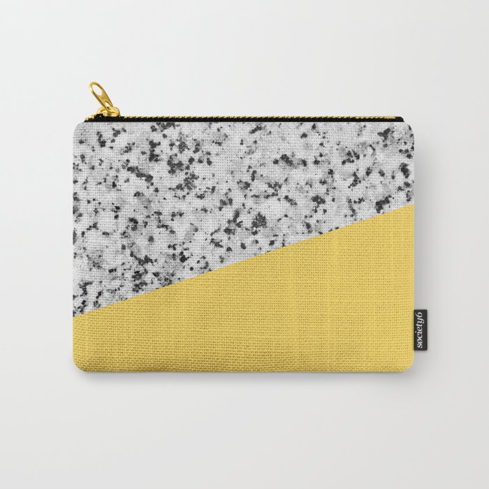 Granite and primrose yellow color Carry-All Pouch