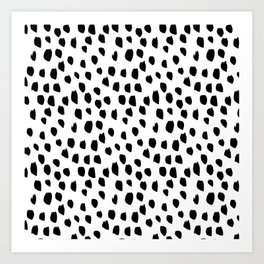 Hand drawn drops and dots on white - Mix & Match with Simplicty of life Art Print