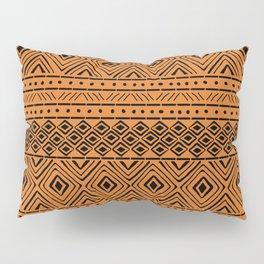 African Mud Cloth // Orange Pillow Sham