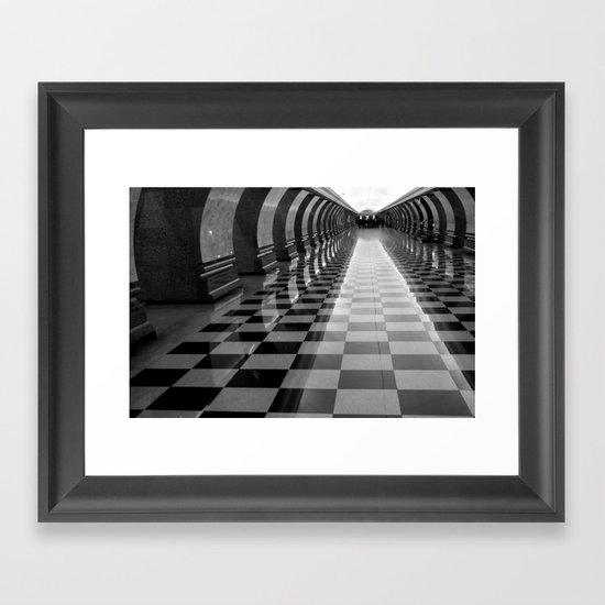 Moscow Metra Framed Art Print