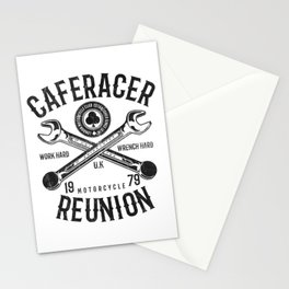 Cafe Racer Reunion Vintage Tools Poster Stationery Cards