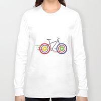 bike Long Sleeve T-shirts featuring Bike! by Alice Wieckowska