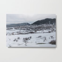 Snowy landscape from Sicily Metal Print