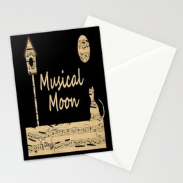 Musical Moon Stationery Cards