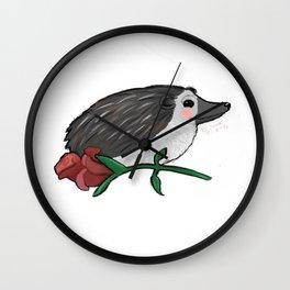 Hedgehog Rose Wall Clock