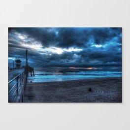 Approaching Storm Huntington Beach, alifornia Canvas Print