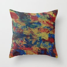 Primary Colors Inspired by Richter  Throw Pillow