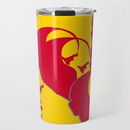 Vladimir Ilich Lenin stencil silhuette portrait Travel Mug