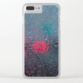 Red and Blue Clear iPhone Case