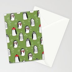 Christmas penguin cute animal pattern winter holiday gifts Stationery Cards