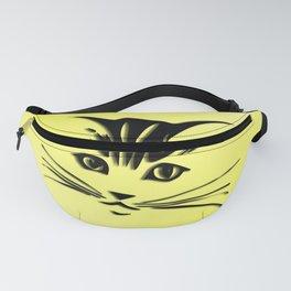 Light Cadmium Yellow Kitty Cat Face Fanny Pack