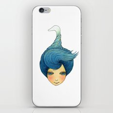 the girl with swan hair iPhone & iPod Skin