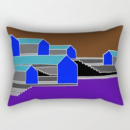 Black Stairs Rectangular Pillow
