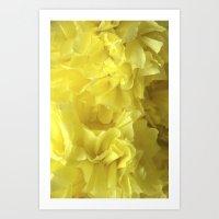Crepe flower sunshine Art Print