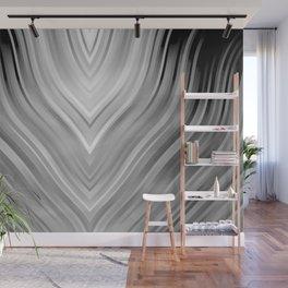 stripes wave pattern 3 bwgr Wall Mural