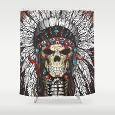 WAR BONNETT Shower Curtain