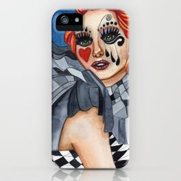 Harlequin - watercolor iPhone Case