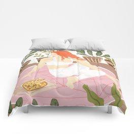 Yoga + Pizza Comforters