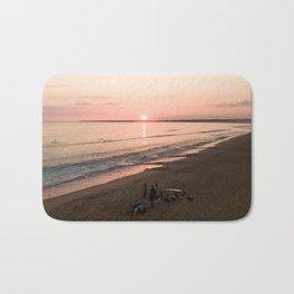 tranche sur mer france aerial drone shot sunset crew surf water Bath Mat