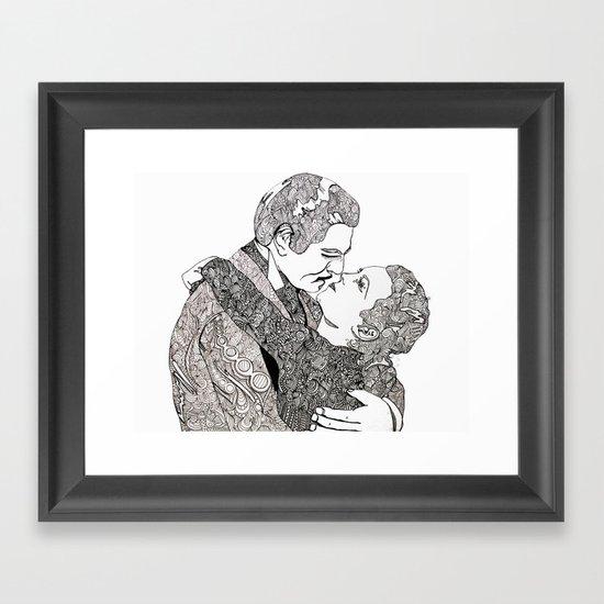 Gone With The Wind Elaboration Framed Art Print