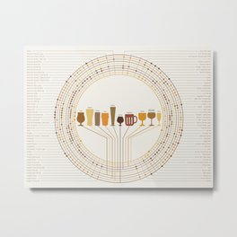 Beer & Glassware Poster Metal Print