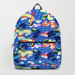 Sushi Happy Fun time (Blue) Backpack