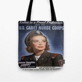 Vintage poster - U.S. Cadet Nurse Corps Tote Bag