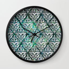 Persian Oriental  pattern abalone and pearl Wall Clock