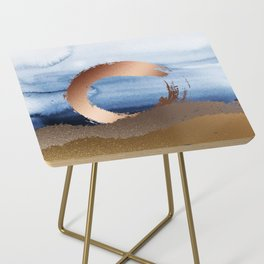 Inspiration: Gold, Copper And Blue Side Table