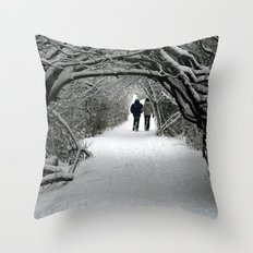 Witch in the Wood Throw Pillow