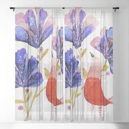 renewed beauty Sheer Curtain