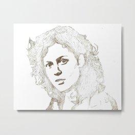 Ellen Ripley sketch- Sigourney Weaver- Alien Metal Print